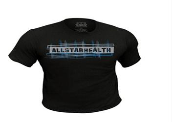 ALL STAR HEALTH T-Shirt Black (L) 1 unit