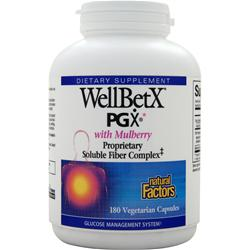 NATURAL FACTORS WellBetX PGX with Mulberry 180 vcaps