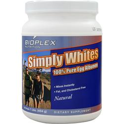 BIOPLEX NUTRITION Simply Whites Natural 1 lbs