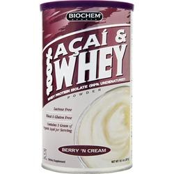 BIOCHEM 100% Acai & Whey Berry N' Cream 10.1 oz