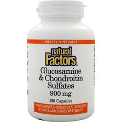 NATURAL FACTORS Glucosamine & Chondroitin Sulfates (900mg) 120 caps