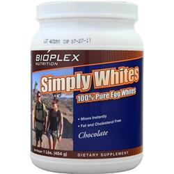 BIOPLEX NUTRITION Simply Whites Chocolate 1 lbs