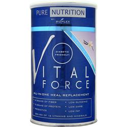 BIOPLEX NUTRITION Pure Nutrition - Vital Force Meal Replacement Vanilla Flavor 1 lbs