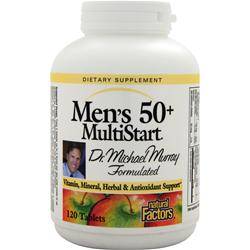 Natural Factors Men's 50+ MultiStart 120 tabs