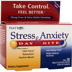 NATROL Stress and Anxiety Day and Night 60 tabs