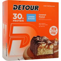 FORWARD FOODS Detour Bar - Low Sugar Caramel Peanut 12 bars