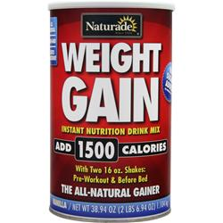 NATURADE Weight Gain (No Sugar Added) Vanilla 38.94 oz