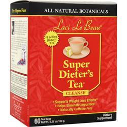LACI LE BEAU Super Dieter's Tea Cleanse All Natural Botanicals 60 unit