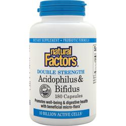 Natural Factors Acidophilus & Bifidus 180 caps