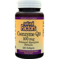 NATURAL FACTORS Coenzyme Q10 (100mg) Twin Pack 120 sgels