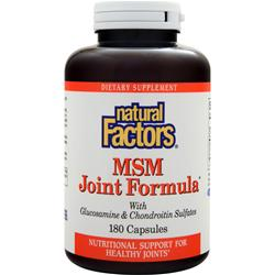 NATURAL FACTORS MSM Joint Formula 180 caps