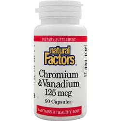 Natural Factors Chromium & Vanadium (125mcg) 90 caps