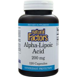 NATURAL FACTORS Alpha-Lipoic Acid (200mg) 120 caps