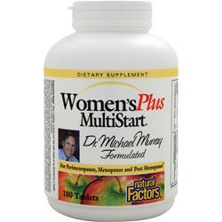 Natural Factors Women'sPlus MultiStart 180 tabs