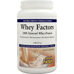 NATURAL FACTORS 100% Natural Whey Protein - Whey Factors Natural French Vanilla 2 lbs