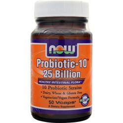 NOW Probiotic-10 25 Billion 50 vcaps