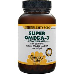 COUNTRY LIFE Super Omega-3 (400mg EPA/200mg DHA) 60 sgels