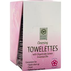 DESERT ESSENCE Cleansing Towelettes with Organically Grown Essential Oils 24 unit