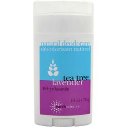 EARTH SCIENCE Natural Deodorant Tea Tree Lavender 2.5 oz