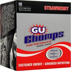 GU Chomps Strawberry 16 pckts