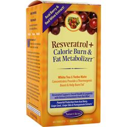 Nature's Secret Resveratrol plus Calorie Burn 60 tabs