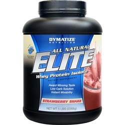 DYMATIZE NUTRITION Elite Whey Protein Isolate - All Natural Strawberry Shake 5 lbs