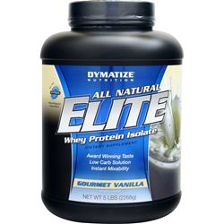 DYMATIZE NUTRITION Elite Whey Protein Isolate - All Natural Gourmet Vanilla 5 lbs