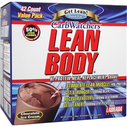 LABRADA Lean Body Carb-Watchers Shake Chocolate Ice Cream 42 pckt