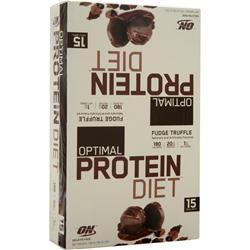 OPTIMUM NUTRITION Optimal Protein Diet Bar Fudge Truffle 15 bars