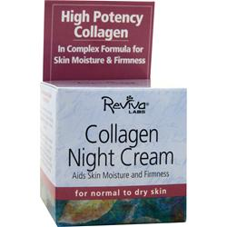 REVIVA LABS Collagen Night Cream for Normal to Dry Skin 1.5 oz