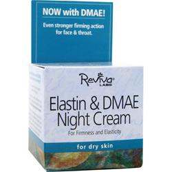 REVIVA LABS Elastin and DMAE Night Cream for Dry Skin 1.5 oz