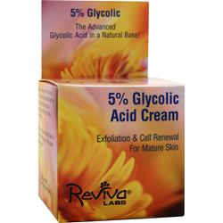 REVIVA LABS 5% Glycolic Acid Cream for Mature Skin 1.5 oz