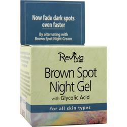 Reviva Labs Brown Spot Night Gel with Glycolic Acid for All Skin Types 1.25 oz