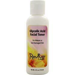 REVIVA LABS Glycolic Acid Facial Toner Mature/Sun-Damaged Skin 4 fl.oz