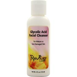 REVIVA LABS Glycolic Acid Facial Cleanser Mature/Skin-Damaged Skin 4 fl.oz