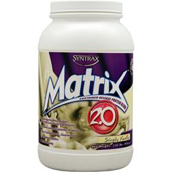 Syntrax Matrix 2.0 - Sustained Release Protein Simply Vanilla 2.02 lbs