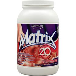 Syntrax Matrix 2.0 - Sustained Release Protein Strawberry Cream 2.04 lbs
