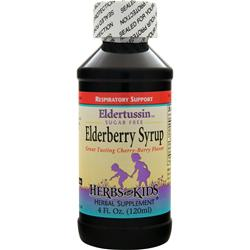 Herbs For Kids Eldertussin Elderberry Syrup - Sugar Free Cherry-Berry 4 fl.oz