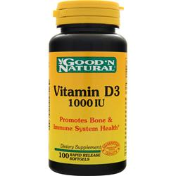 Good 'N Natural Vitamin D3 (1000IU) 100 sgels