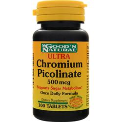 GOOD 'N NATURAL Chromium Picolinate (500mcg) 100 tabs