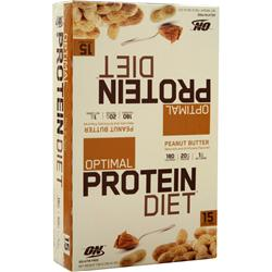 OPTIMUM NUTRITION Optimal Protein Diet Bar Peanut Butter 15 bars