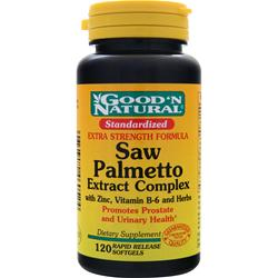 GOOD 'N NATURAL Saw Palmetto Extract Complex 120 sgels
