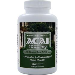 GOOD 'N NATURAL Acai (1000mg) with Green Tea 120 sgels