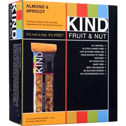PEACEWORKS Kind Fruit & Nut Bar Almond & Apricot 12 bars