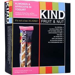 PEACEWORKS Kind Fruit & Nut Bar Almonds&Apricots w/Yogurt 12 bars