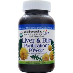 ECLECTIC INSTITUTE Fresh Freeze-Dried Liver and Bile Purification POW-der 90 grams