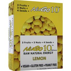 NUGO NUTRITION NuGo 10 Bar Lemon 12 bar