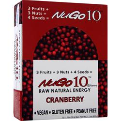 NUGO NUTRITION NuGo 10 Bar Cranberry 12 bar