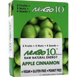 NUGO NUTRITION NuGo 10 Bar Apple Cinnamon Exp5/20/13 12 bar