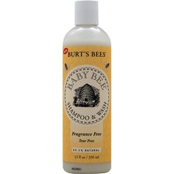 BURT'S BEES Baby Bee Shampoo and Wash Tear-Free/Fragrance Free 12 fl.oz